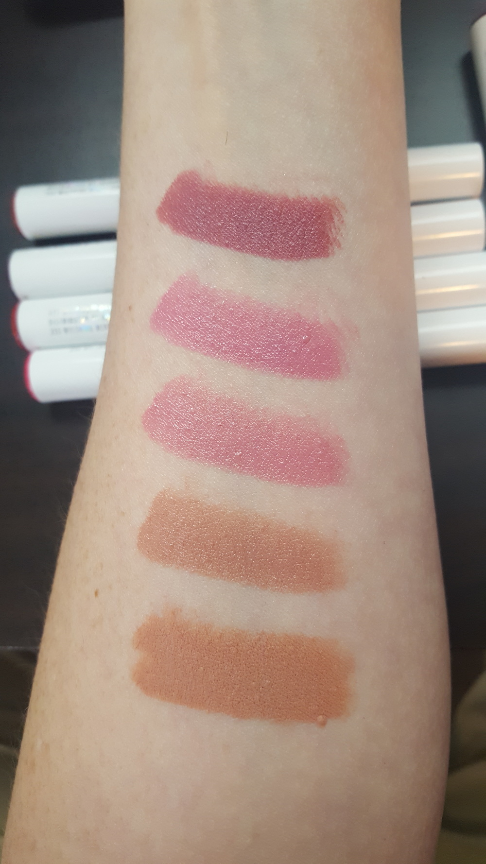 From top to bottom: Lumiere, Bound 1, Bound 2, Choker, She Bad - Nudes/Neutrals