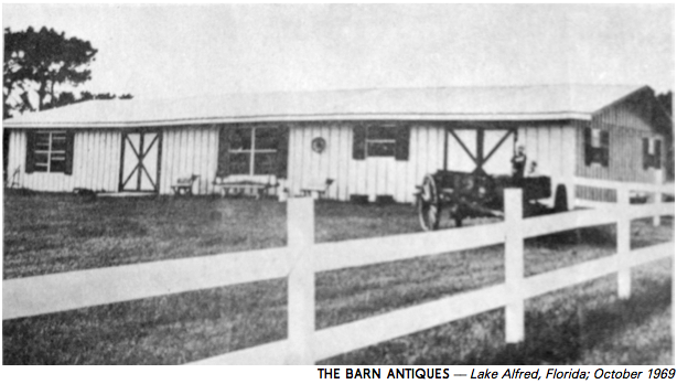 The Barn Antiques, established 1969, is a large, family-run antique shop in rural Central Florida. We sell a wide range of furniture and small items, most of them dating to the early 1800s through the 1940s.