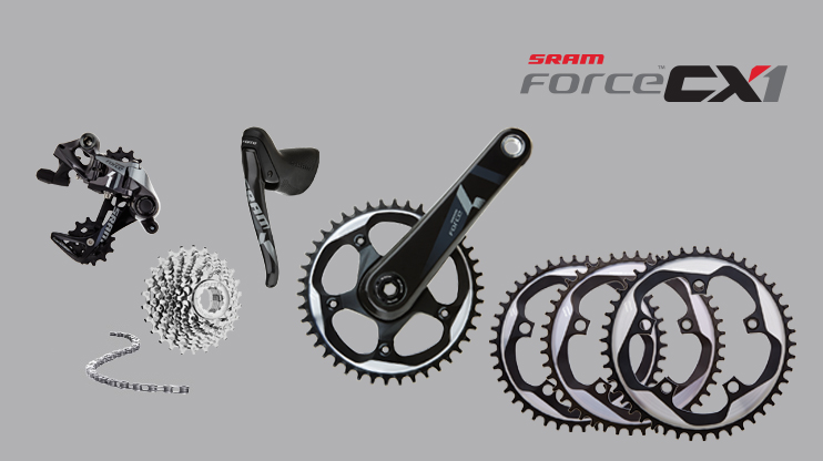 OK, you've been living under a rock if you haven't heard about the advantages of the SRAM FORCE CX1 11speed drivetrain worth over $1100.00.  This is the same drivetrain all the pro's are using with the lightweight and snappy 11x1 shifting.  Special chainrings and a clutched derailleur make dropped chains a thing of the past. You want this......
