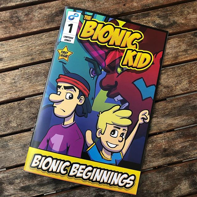 It's here! Order issue #1 of The Bionic Kid today. Proceeds go to support the limb difference community. . . . #book #prosthetics #limbdifferenceawareness #comics #CreateEDU #adobe #ucf #comicbook @Limbitless3D @ucf.cah #art #GraphicDesign
