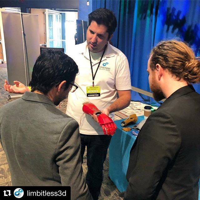 Promoting accessibility and inclusivity in our community at #Otronicon this morning! We'll be on the 4th floor both today and tomorrow spreading our message of #3DHope. . . . #BeLimbitless #Otronicon #STEAM #Science #Orlando #LimbDifference #Technology #Gaming