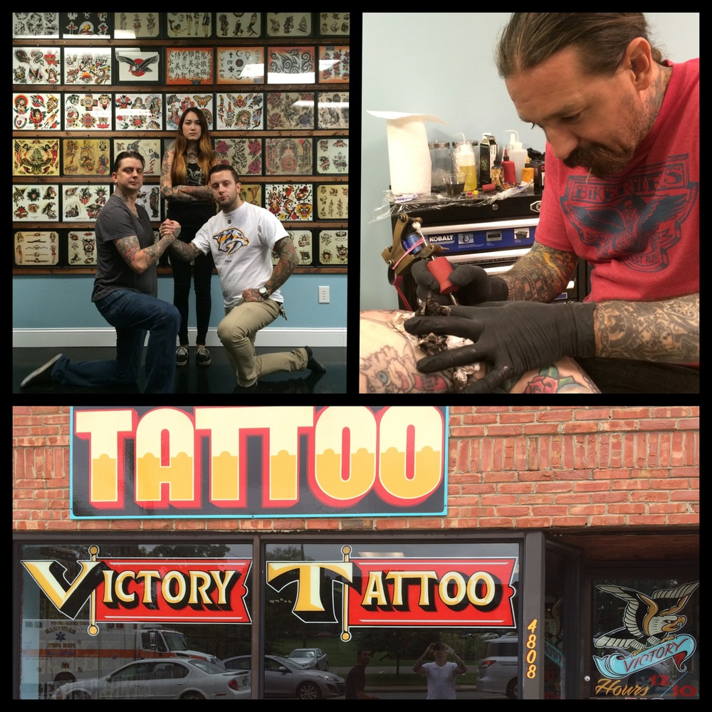 Thanks to Oliver Peck for doing some tattoos at Victory Tattoo while in Nashville.