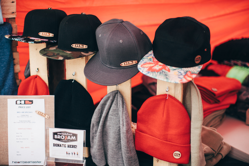 Wood label headwear. Photo:  @BethanyMarieCo