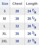 Tank Size Chart