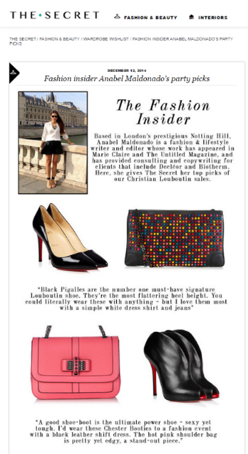 Fashion insider Anabel Maldonado s party picks   The Secret   The Secret.png