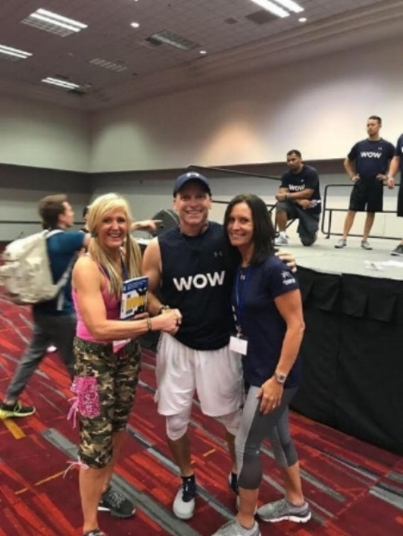 linda mitchell with todd and Melanie  durkin winning his WOW book.