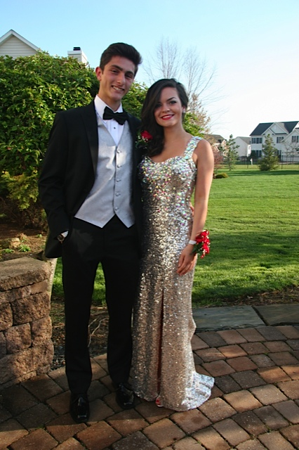 Going and Smolinsky on prom night.  Courtesy of Claire Going