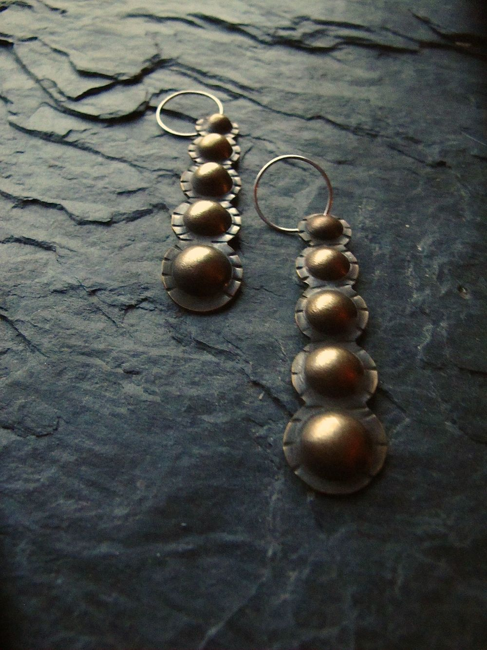 Casacading dome earrings
