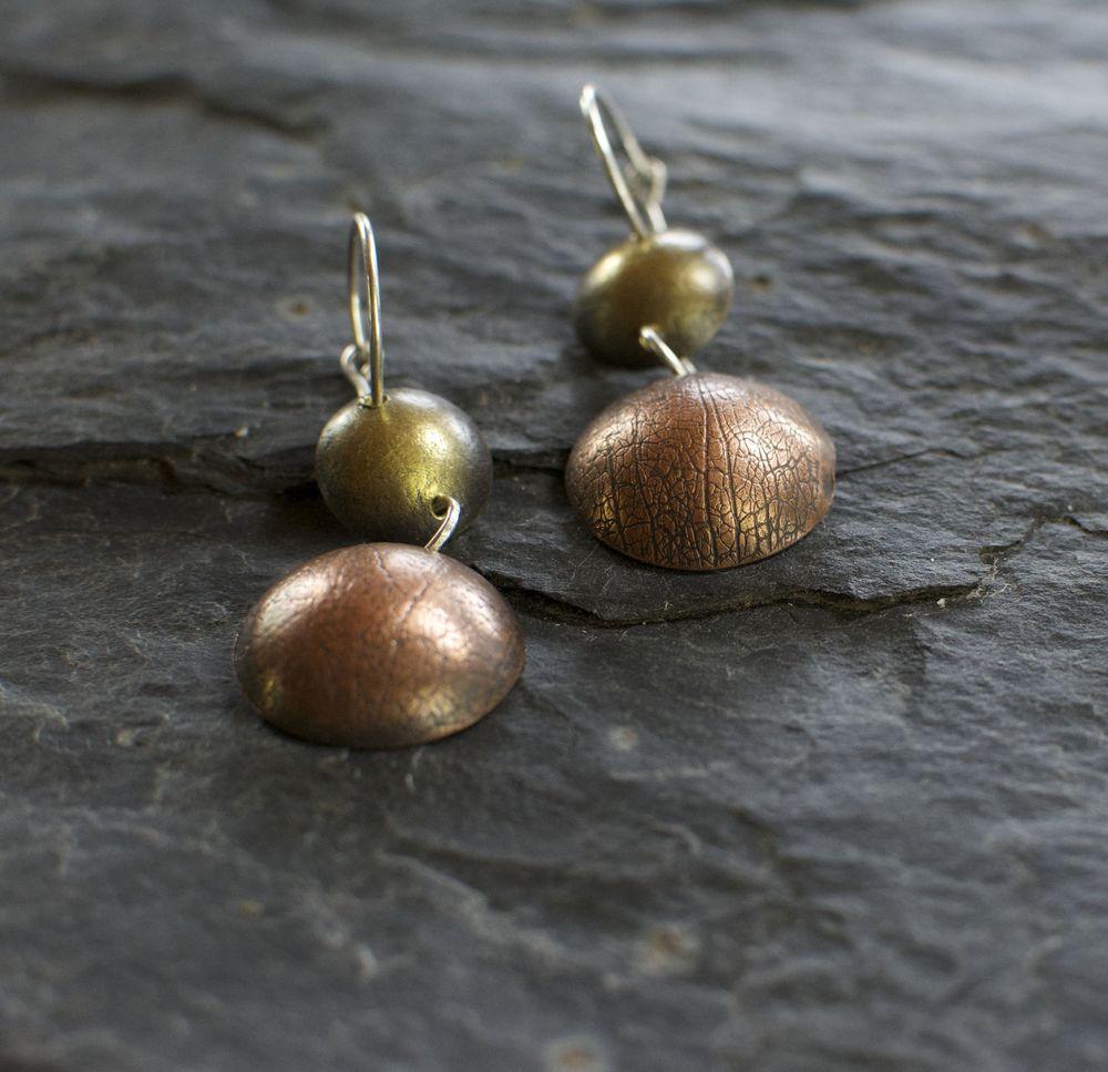 Double drop cascade earrings