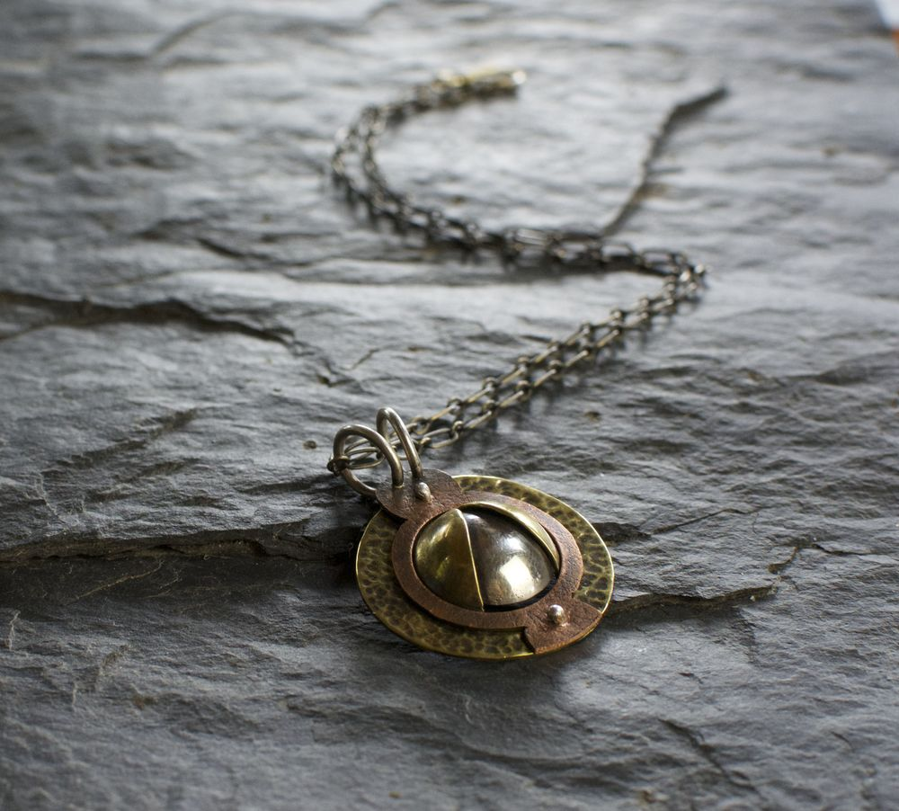 Cosmic blossom necklace