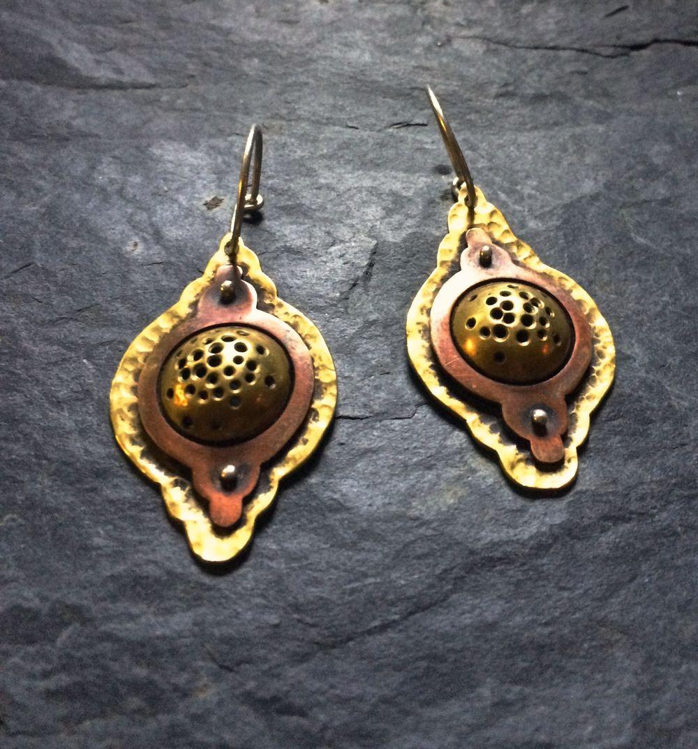 Cosmic temple earrings