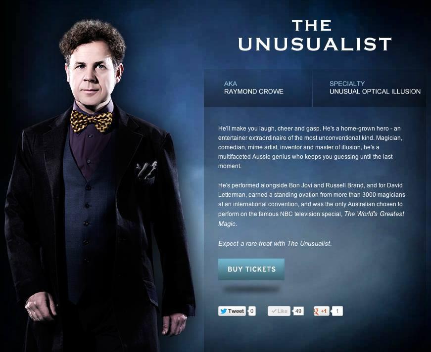 The Unusualist The Illusionists