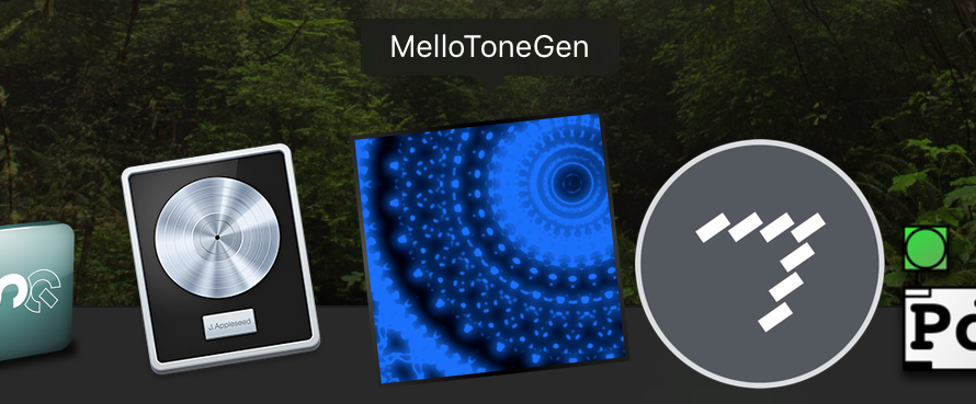 MelloToneGen runs as a native Mac application
