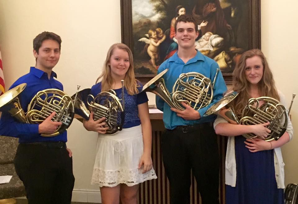 University of Central Oklahoma Broncho Horn Quartet