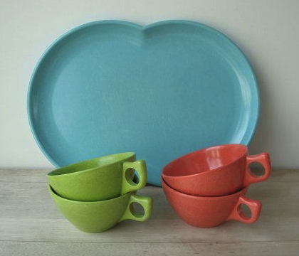 Vintage melmac coffee set from Etsy.com