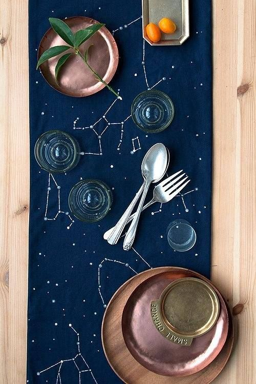 DIY Constellation Table Runner via theKitchn
