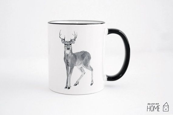 Deer mug by kokokoshop on Etsy.com.