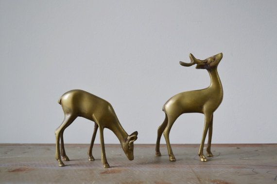 Vintage brass deer from Kindling Vintage on Etsy.com.