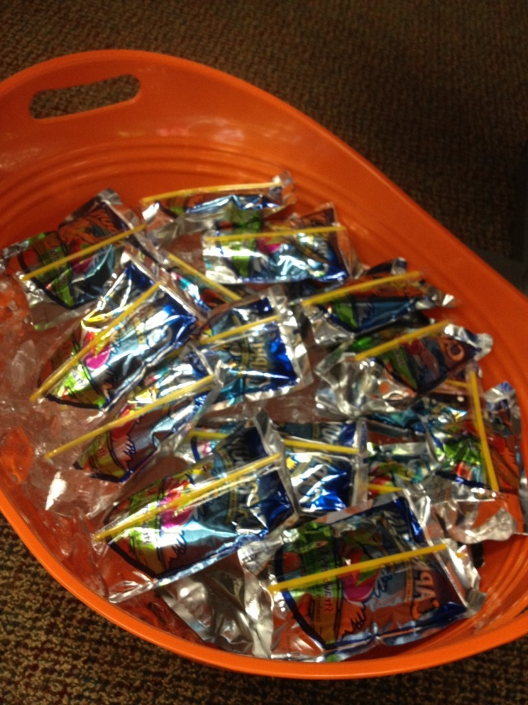 What goes better with retro candy than a tub full of icy Capri Suns!