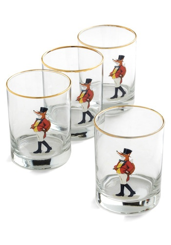 Serve spiked cider in these adorable fox glasses from Modcloth.com.