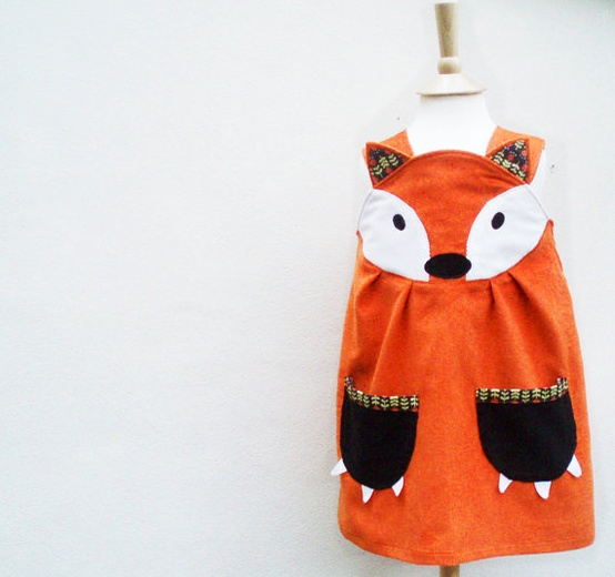 Pups at the party will have fun in this fancy fox frock from Etsy.com.