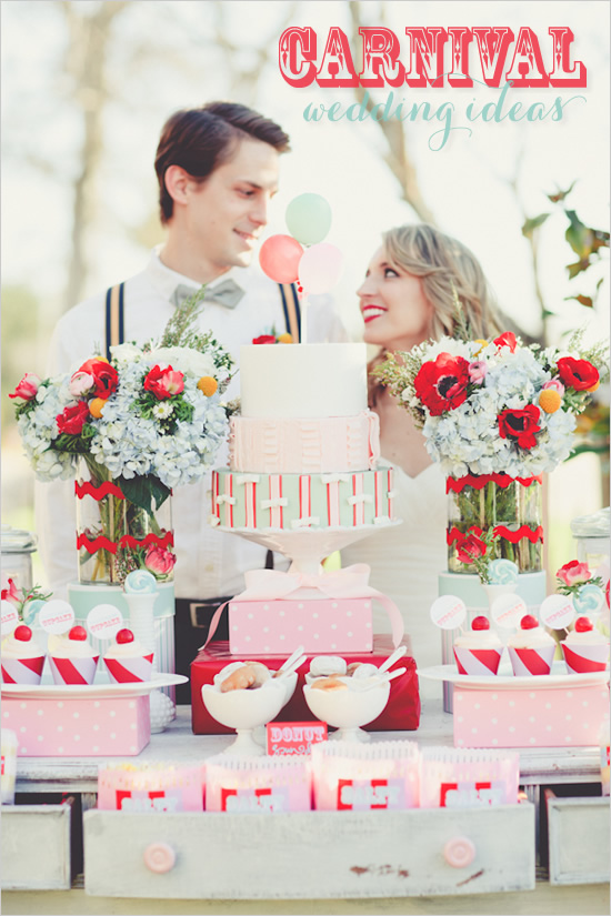 Carnival theme wedding - Photo by Ryan Price photography