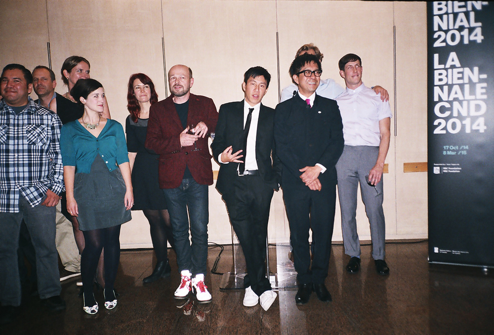 Here's another snap from the reception with fellow artists. Courtesy of  Rémi Thériault.
