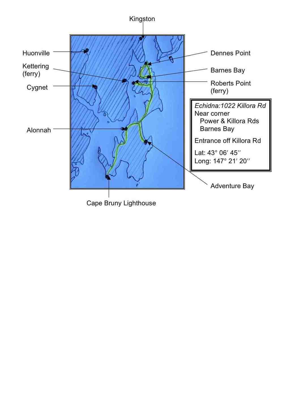 EchidnaBruny Island Mud Map 2014