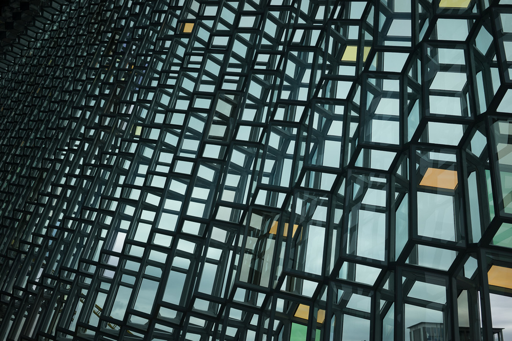 Inside Harpa. Photo by Jonnie Hallman!