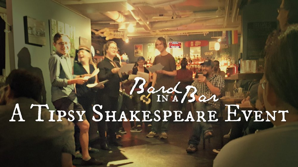 "Stay tuned for the next event!      Bard in a Bar   is a unique evening of Shakespeare ""karaoke,"" presented with a beer in one hand and plenty of audience participation. No experience necessary – barflies and Bardolators alike can share the stage and bring Shakespeare's words to life! Scripts and props will be provided. Come early to grab a bite to eat from Solo's kitchen and get in the spirit(s)! 21+."
