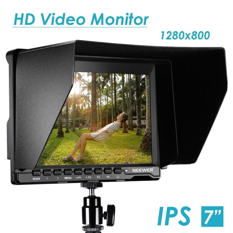 "External LCD Monitor:   Neewer 7"" - Amazon Link"