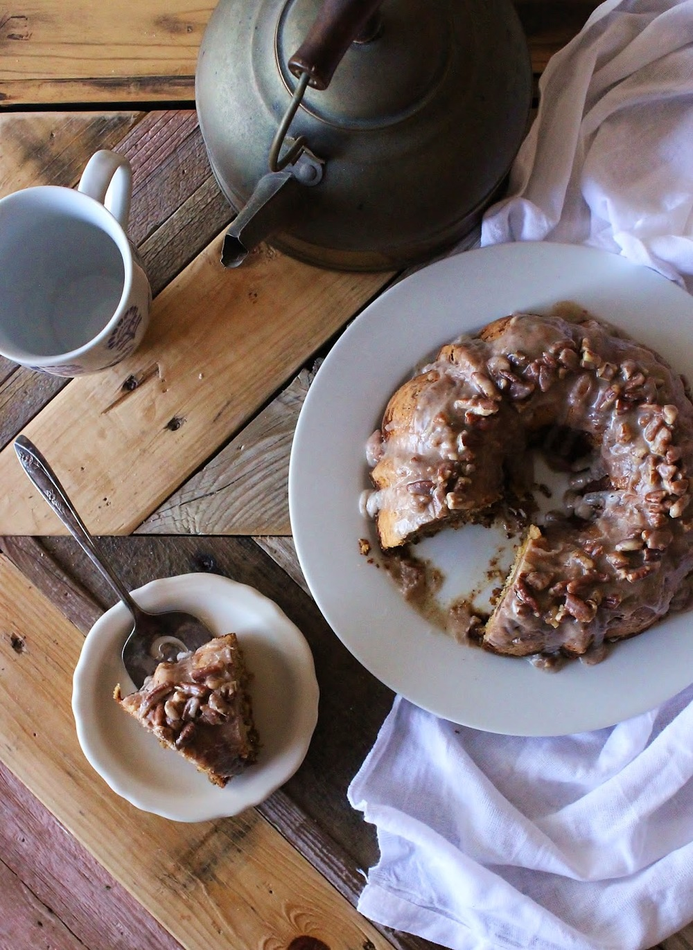 Carrot Apple Pecan Breakfast Cake
