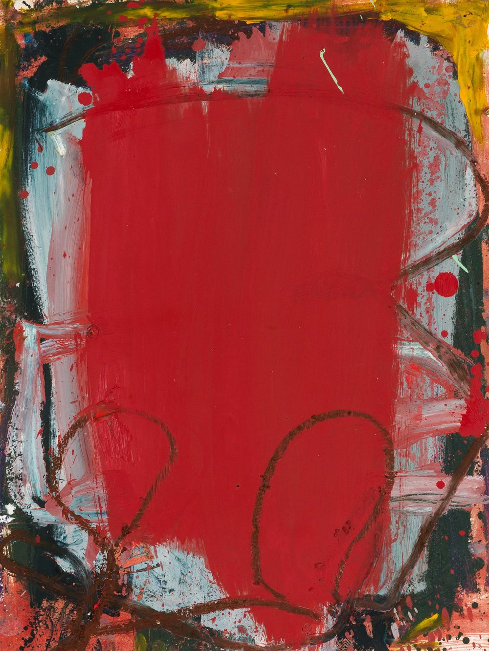 Red Circles  , oil on paper, 24 x 18 in. ©Denise Gale 2013