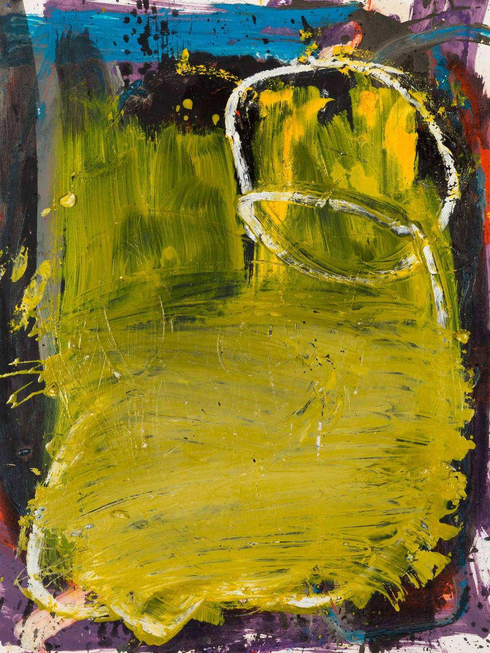 Yellow Fever  , oil on paper, 24 x 18 in. ©Denise Gale 2013