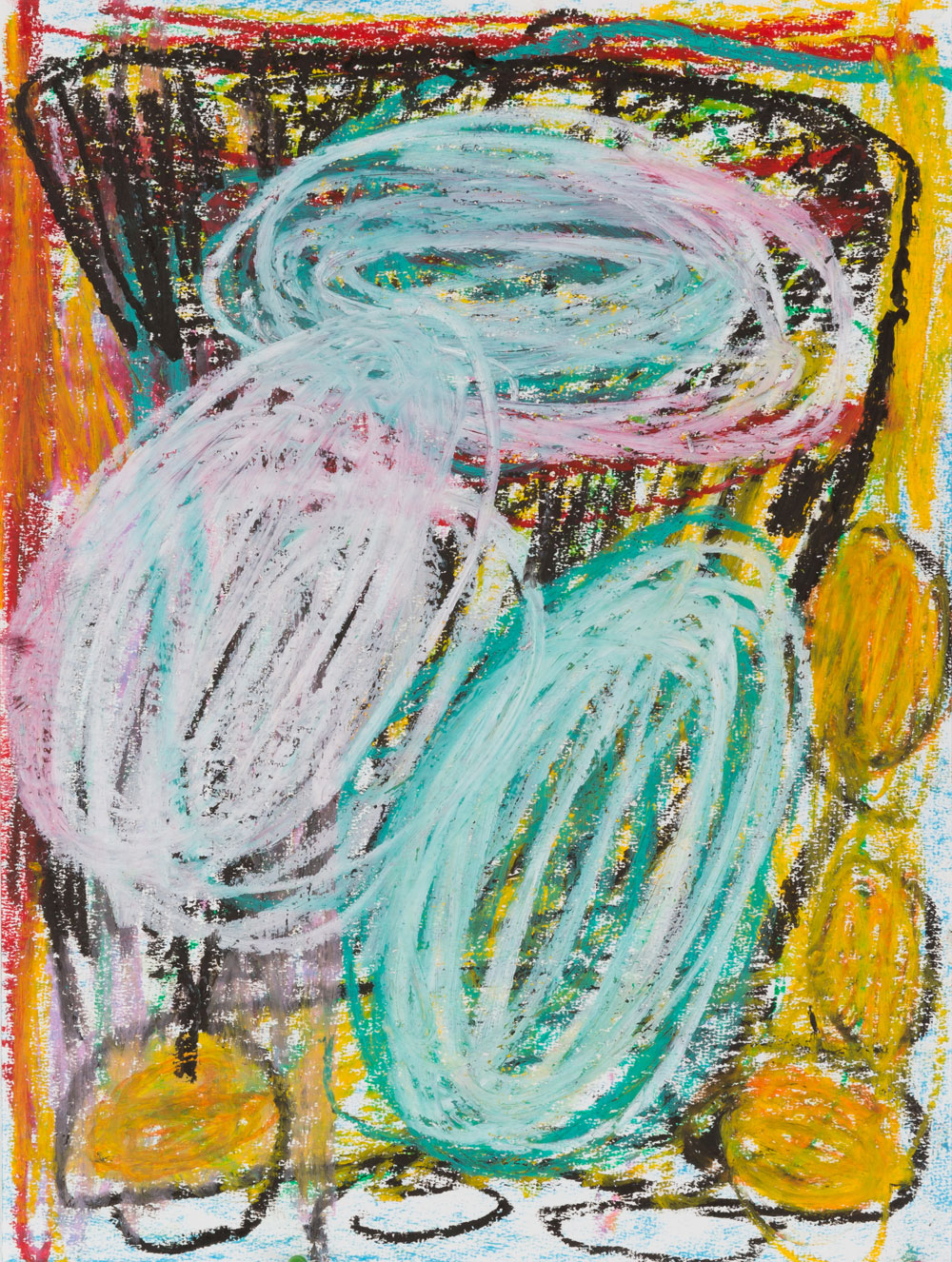 Crazy  , oil pastel on paper, 17x14 in. ©Denise Gale 2016