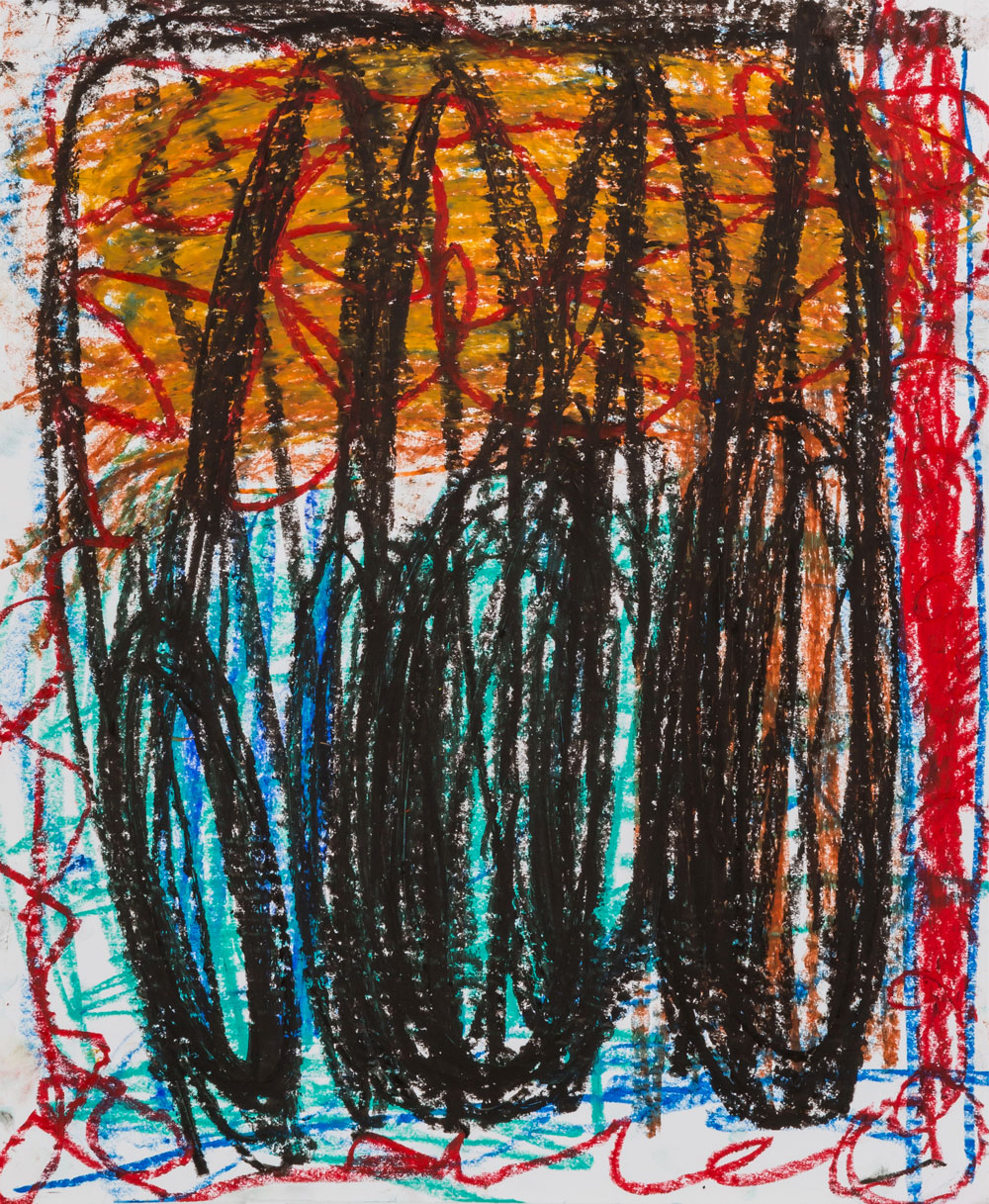 Three Kings II  , oil pastel on paper, 17x14 in. ©Denise Gale 2016