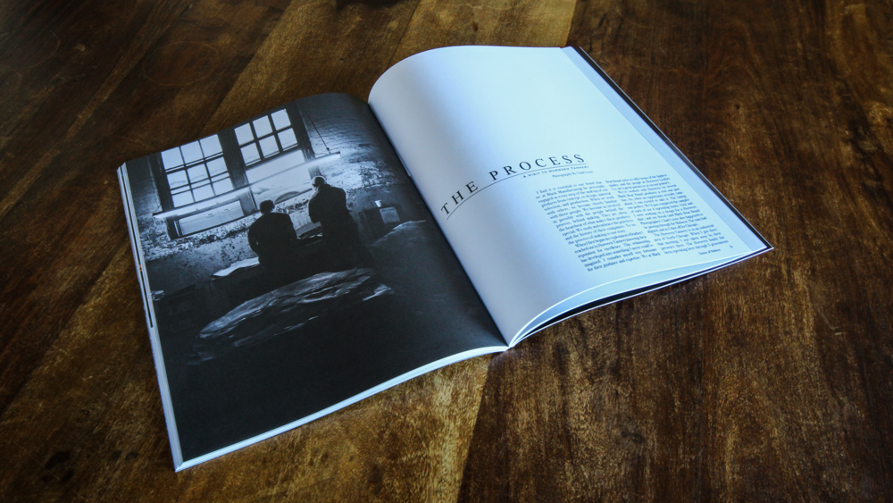 Print marketing material for Black Bear Brand, a storied lookbook