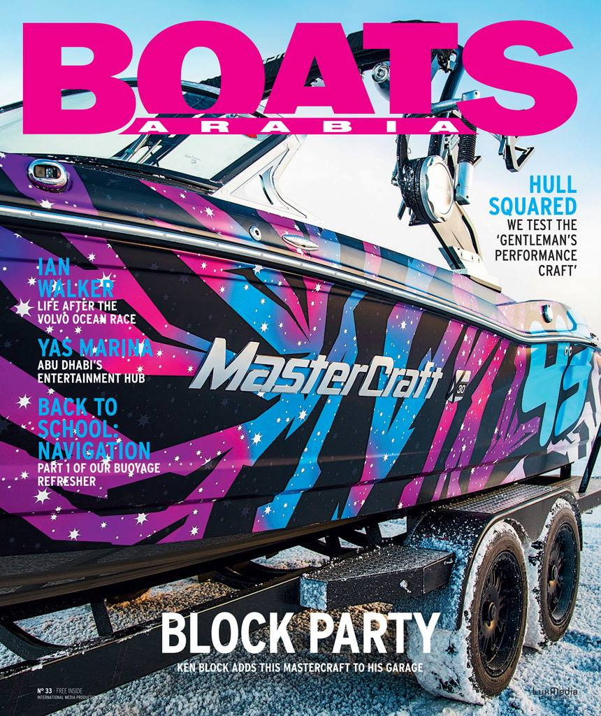 Boats Arabia for Graphic on Ken Block's Mastercraft