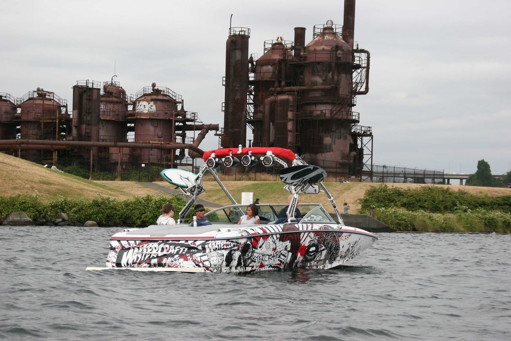 Mastercraft graphic in Gas Works Park Seattle