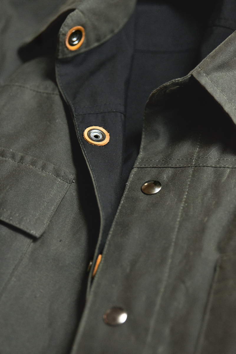 Black Bear Brand Green Wax Canvas Shirt Jacket
