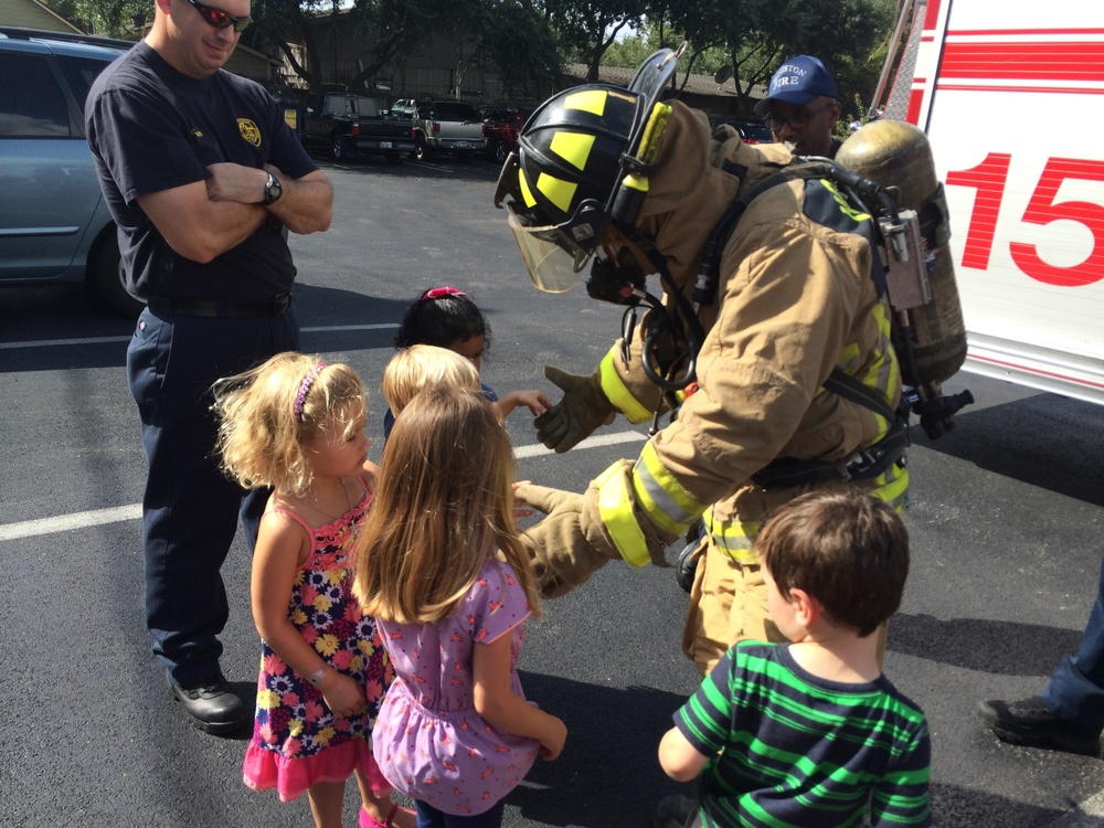 Nothing to be afraid of just a friendly firefighter!