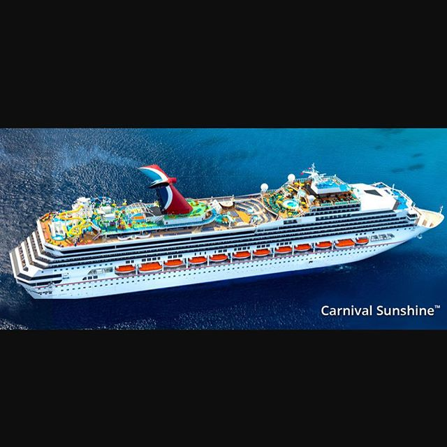"My next contract is on the lead ship of the destiny class cruise ships. ""Carnival Sunshine"" Jan. 3- May 8th. I'll be porting in Orlando, Nassau, Half Moon Cay, Freeport, St. Maarten, St. kitts, and San Juan. Did I mention the ship held the world record of being the largest passenger vessel?"