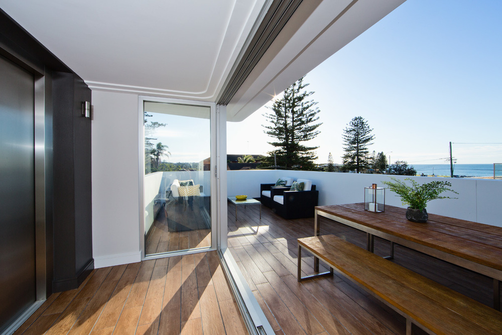 Lift to entertaining roof top