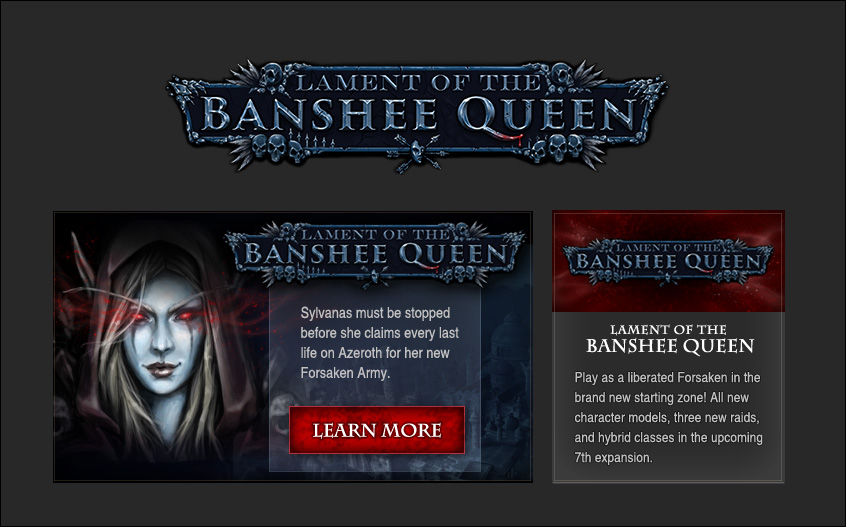 Lament of the Banshee Queen Ads