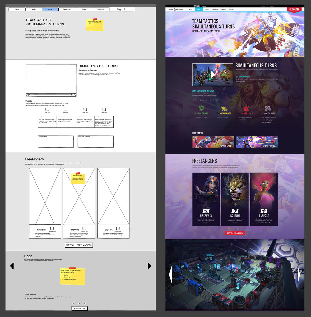 Atlas Reactor - Game wireframe