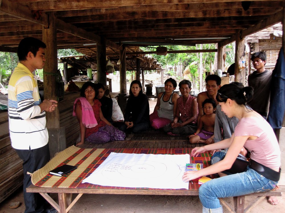 One of the participatory workshops to understand what matters to the villagers of Kampong Chhnang involved in this research
