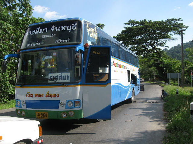 Bus breakdown in Thailand