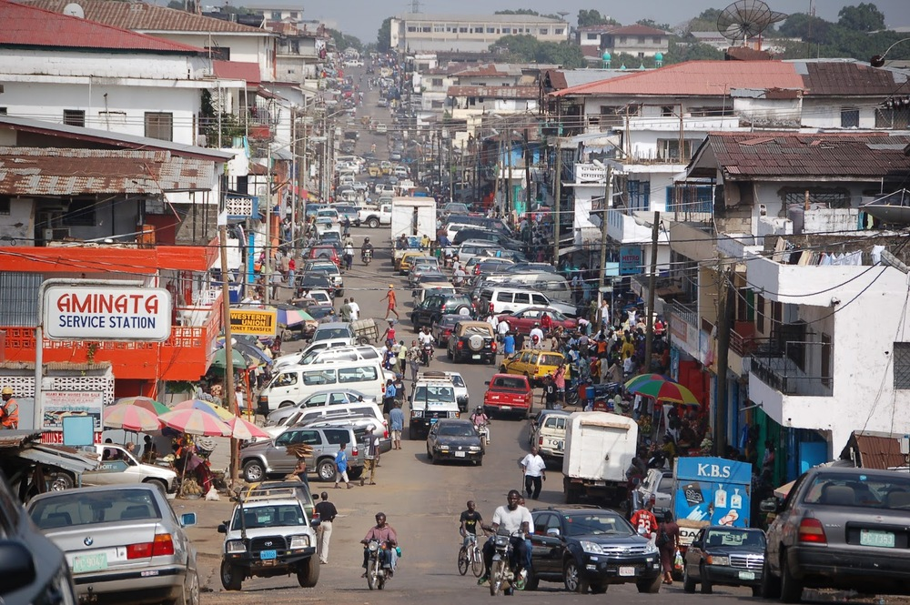 """Photo of Monrovia, Liberia Downtown Monrovia 3348917715 67a2002529"" by Erik (HASH) Hershman - Licensed under CC BY 2.0 via Wikimedia Commons."