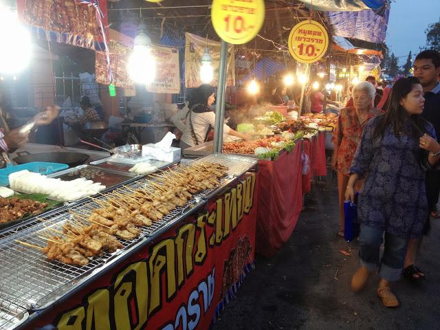 Krabi town night market food stalls