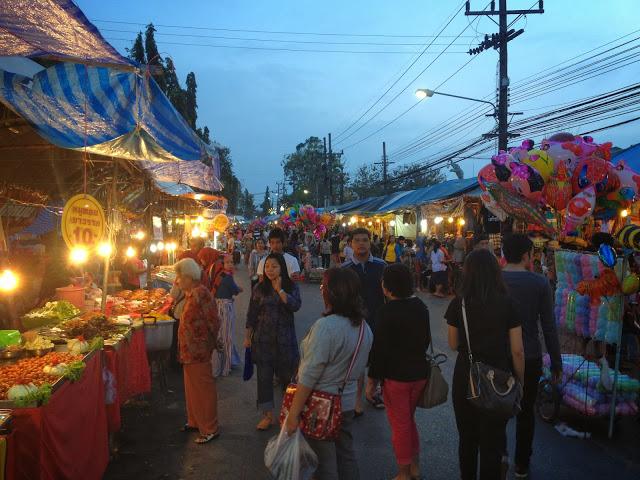 Krabi night market food stalls